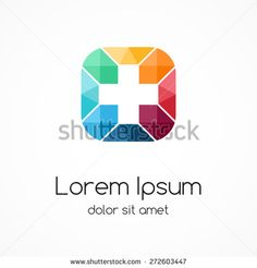 Plus sign logo template. Medical healthcare hospital symbol. Abstract concept of hospital. Medicine doctor. Graphic design element.