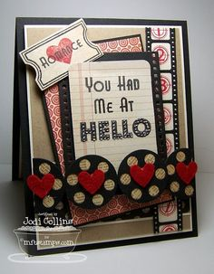 Pretty Valentine's day #card #cardmaking