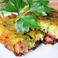 Recept : Cukeťák z plechu | ReceptyOnLine.cz - kuchařka, recepty a inspirace Czech Recipes, Ethnic Recipes, What To Cook, Lasagna, Baked Potato, Quiche, Tapas, Zucchini, Food And Drink