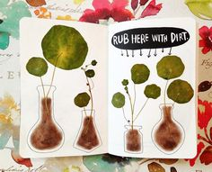 Wreck this journal - rub here with dirt Wreck This Journal Cover, Journal Covers, Art Journal Pages, Self Care Bullet Journal, Bullet Journal Books, Junk Journal, Drawing Journal, Art Sketchbook, Art Journal Inspiration