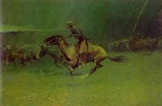 Remington Stampede  Frederic Remington