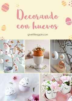 Decorando con huevos Place Cards, Place Card Holders, Diy, Easter Crafts, Crafts To Make, Creative Crafts, Plastic Containers, Egg Crates, Recycled Decor