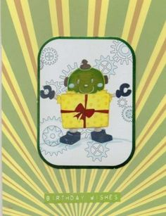 boy's birthday robot card | Paulines Passions MISI Handmade Shop £2.00