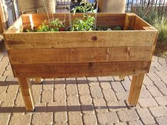 Need to show the hubby this example of a raised herb garden...I want one!