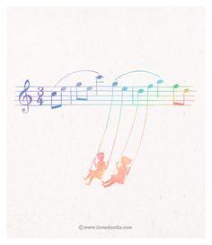 ♮ ♬ ♩ ♭ swing music!