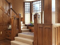 Stairway, paneling  -- Richard Mandelkorn Photography