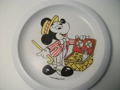 Vintage Mickey Mouse plate Cole & Mason melamine Disney nursery dapper on Etsy, $8.37