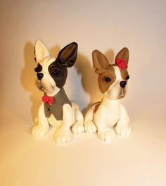 Custom Cake Topper Dog Pet Boston Terrier French by FancypantsClay