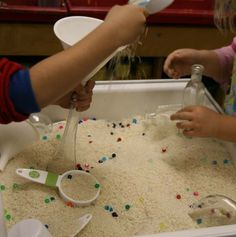 Ideas for incorporating sensory tables into learning a variety of concepts.