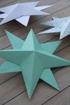 einfache 3D-Sterne aus Karton selber machen