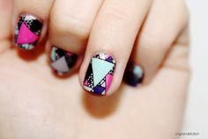nail art stamping inversé