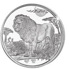 Sierra Leone 2006 - Animals of Africa Part II - Lion - Cupro Nickel Grazing Animals, Commemorative Coins, African Animals, Sierra Leone, Lions, Weird, Lion Sculpture, Money Matters, Metals