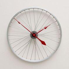 bisiklet jantından duvar saati yapımı