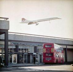 1976: Concorde over Hatton Cross tube