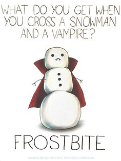Cross a snowman with a vampire by arseniic.deviantart.com on @DeviantArt