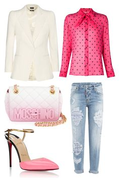 """""""spring 2016"""" by elinavl ❤ liked on Polyvore featuring Dsquared2, Yves Saint Laurent, Alexander McQueen, Christian Louboutin and Moschino"""