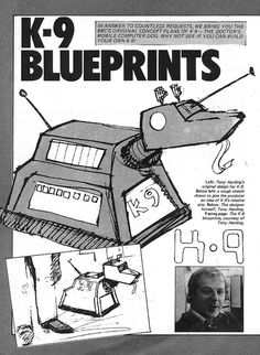 Doctor Who K-9 Blueprints 1980 1 by combomphotos, via Flickr