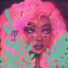 Black Girl Cartoon, Dope Cartoon Art, Black Love Art, Black Girl Art, Drawings Of Black Girls, Afro Art, Digital Art Girl, Magic Art, Dope Art