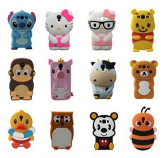 Cartoon Animals New Silicone Rubber Gel Tpu Case Cover For Samsung Galaxy S3 S4 #UnbrandedGenericUniversal