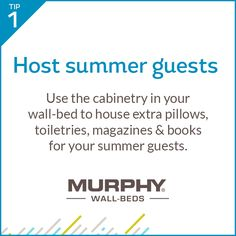 Forget lumpy futons and awful air mattresses! A Murphy Wall-Bed is a great solution for hosting overnight guests in style.