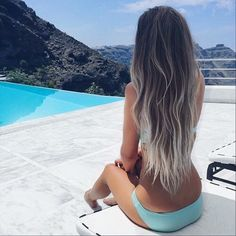 Want to try this grayish platinum ombre