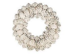 DIY: White Pinecone Wreath