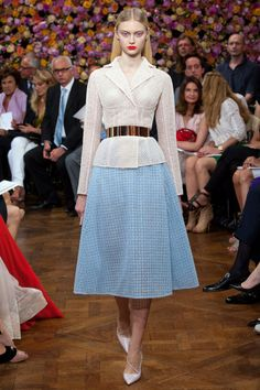 dior's new look Christian Dior Fall 2012 Couture made a modern look of the New Look from 1947.