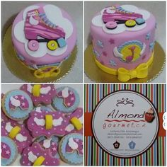 soy luna cookies y cake Happy Birthday, Birthday Parties, Birthday Cake, Birthday Ideas, Soy Luna Cake, Roller Skate Cake, Fondant, Fiesta Colors, Moana Party