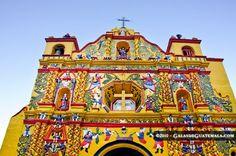 The Yellow Church in San Andres Xecul, Guatemala