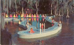 Vintage Florida Postcard - Cypress Gardens - Esther Williams Swimming Pool.