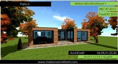Patio 3 Photo Et Plan Constructeur De Maison Avec Patio Plan Plain Pied  Toiture Terrasse