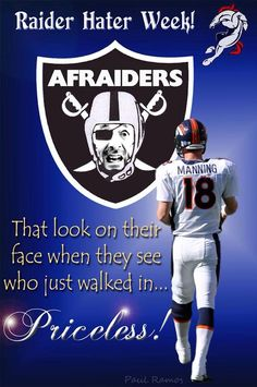 Here we come Raiders Denver Broncos Pictures, Nfl Broncos, Denver Broncos Football, Football Memes, Broncos Memes, Football Stuff, Football Season, Raiders Football