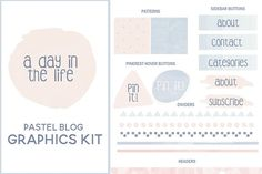 Pastel Blog Graphics