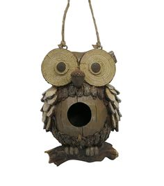 In The Garden Natural Owl Birdhouse