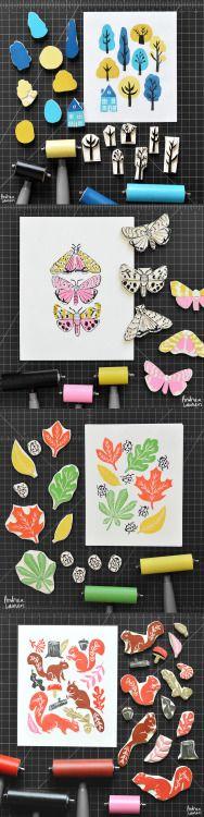 Block Print Stamps by Andrea Lauren