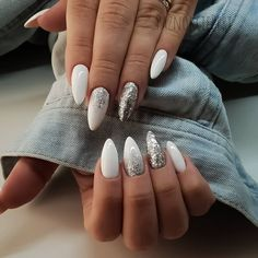 ads ads 43 White nail art designs – The Perfect manicure minimalist & Great with any outfit , simple white nail designs , white nail designs with diamonds, white nail… Aycrlic Nails, Nail Manicure, Snow Nails, Winter Nails, White Manicure, Coffin Nails, Summer Nails, Diamond Nail Designs, Nail Art Designs