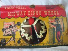 VINTAGE MIDWAY BINGO WHEEL PALMER PLASTICS 1960'S TOY