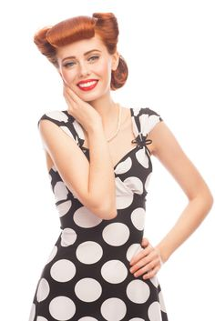 Vintage Rolled Pin Up Hairstyle Updo