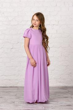 8fa0196862b Italian silk flower girl dress Lilac Flower Girl Dresses