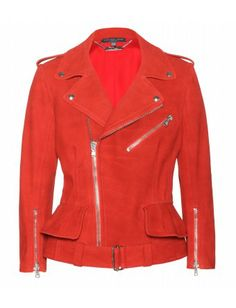 #alexandermcqueen - washed-leather biker jacket