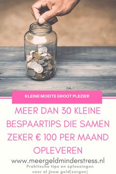 30 kleine bespaartips Money Tips, Money Saving Tips, Money Savers, Personal Finance, Personal Care, Stress, Budgeting Finances, Frugal Tips, Good To Know