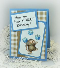 by Rain Puddles Design with House-Mouse Designs® available through Stampendous - Adorable Juggling Dice Stamp