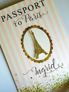 Paris passport invitation by anaderoux on Etsy