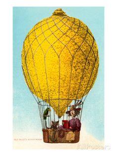 Old Maid's Honeymoon, Lemon Balloon Prints - AllPosters.co.uk