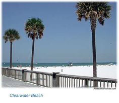 Clearwater beach is so awesome!  White, soft sand and beautiful water!!