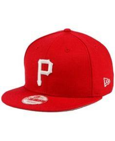 New Era Pittsburgh Pirates C-Dub 9FIFTY Snapback Cap - Red Adjustable
