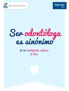 Ser odontóloga es sinónimo de ser inteligente, exitosa y sexy. Dentist Humor, Funny Dentist, Dental Wallpaper, My Tooth Fairy, Oral Health, Dentistry, Tips, Carrera, Scrubs