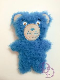 Stuffed Bear Embroidery Machine Design In The Hoop Plushie Instant Download