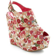 Flower Patch Kids Wedge ($55) ❤ liked on Polyvore