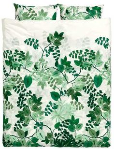 H&M Leaf-print Duvet Cover Set